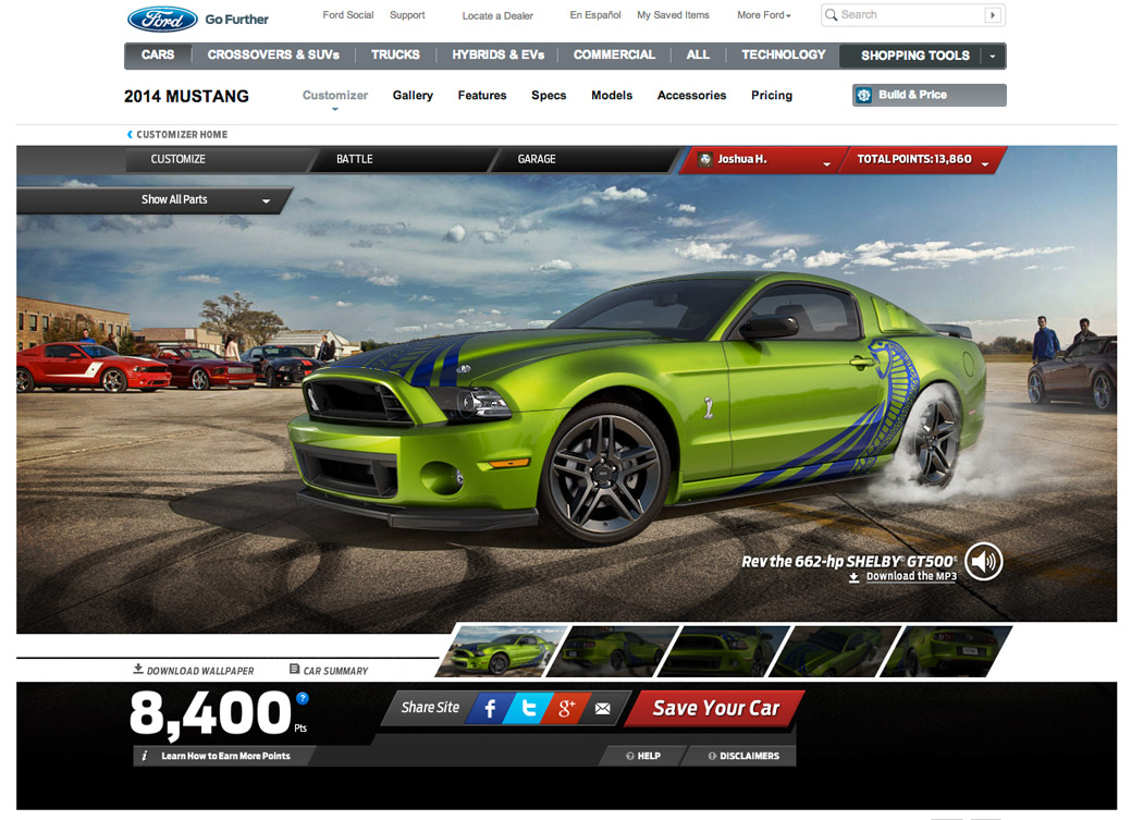 Mustang customizer customize your own 2013 mustang auto Custom car designer online